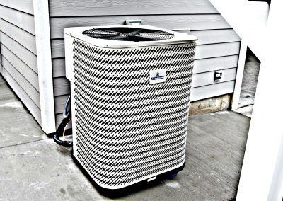 View of optional high-efficiency, low-noise heat pump.
