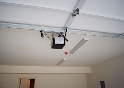 View of the standard 1/2 hp garage door opener.