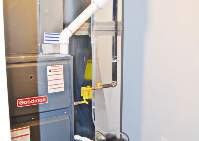 View of the industrial-strength central heating and air unit.