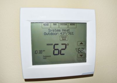 View of a state-of-the-art - but not too state-of-the-art, programmable thermostat.