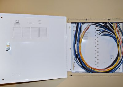 View of Internet and phone connectivity control panel.