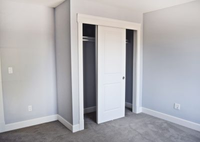 View of closet space in guest bedroom.